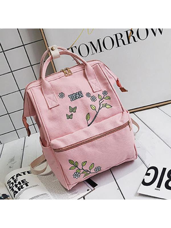 Fashion Women Floral Travel Backpack Satchel Rucksack Laptop Shoulder Bag School Bag Handbag