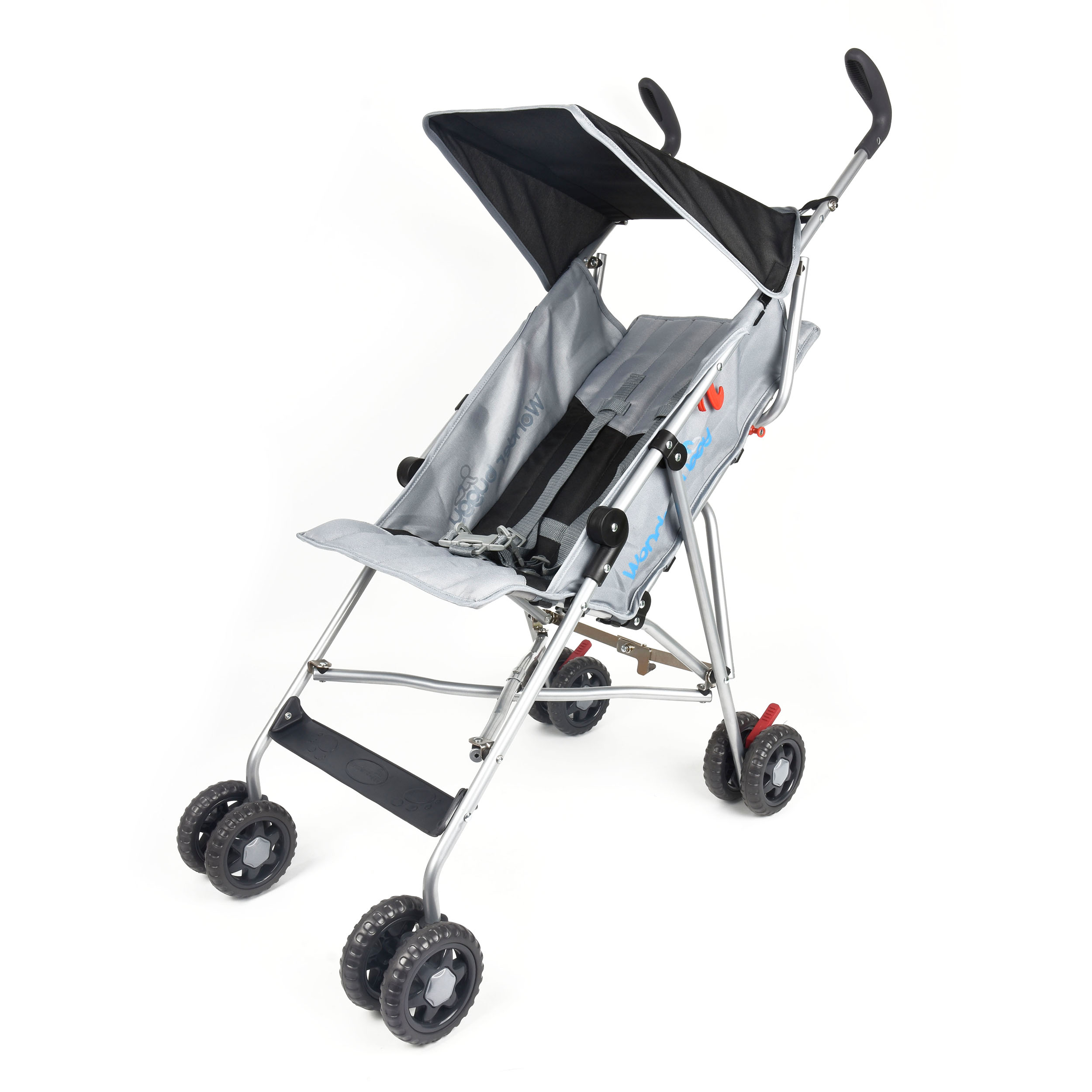 Wonder Buggy Taylor Umbrella Stroller With Flat Canopy Solid Black by Wonder Buggy