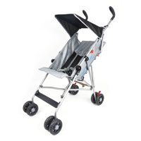 Wonder Buggy Taylor Umbrella Stroller With Flat Canopy - Solid Black
