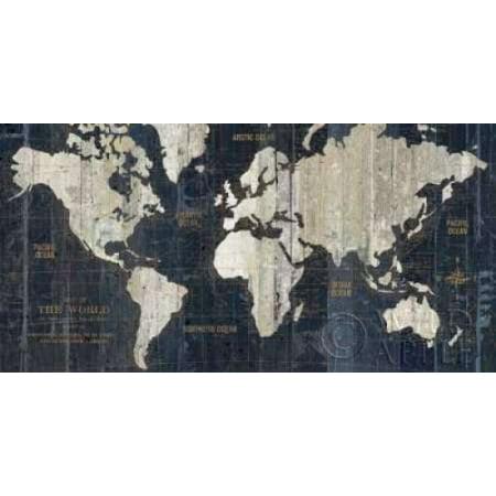 Posterazzi old world map blue canvas art wild apple portfolio 24 posterazzi old world map blue canvas art wild apple portfolio 24 x 48 gumiabroncs Images