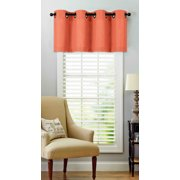 Regal Home Collections Oversized Grommet Top Window Valance - Coral