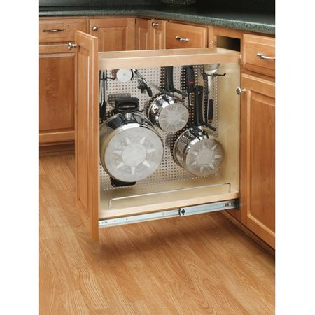 Rev-A-Shelf Stainless Steel Base Pullout Drawer Full Pull Utility Drawer