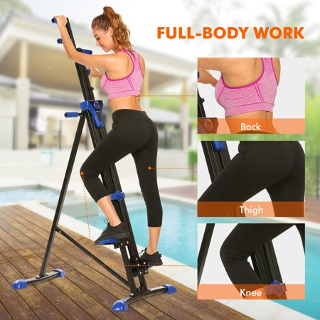 Vertical Climber Stepper 2 In 1 Exercise Fitness Foldable Climbing
