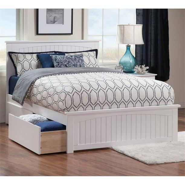 Leo Lacey Urban Queen Storage Platform Bed In White Walmart Com Walmart Com