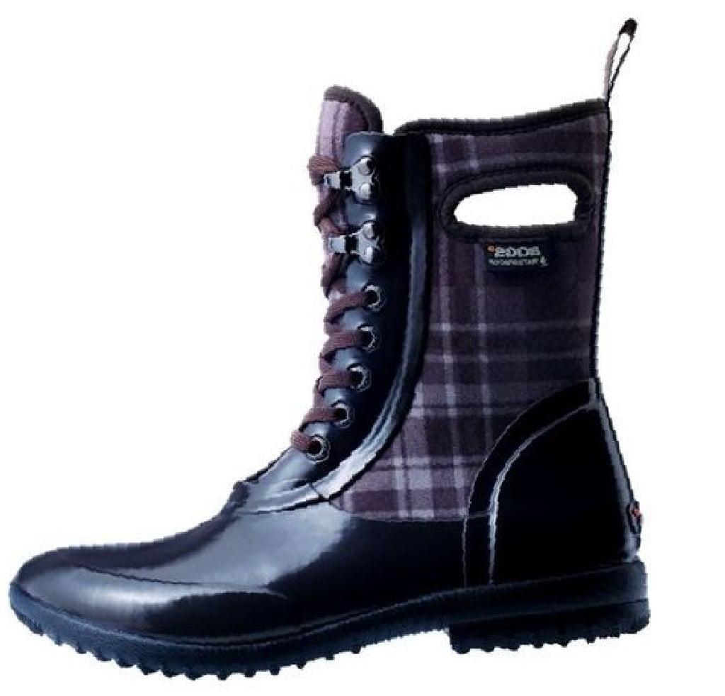 Bogs Boots Womens Sidney Lace Plaid Neo Tech Waterproof 71770 by Bogs