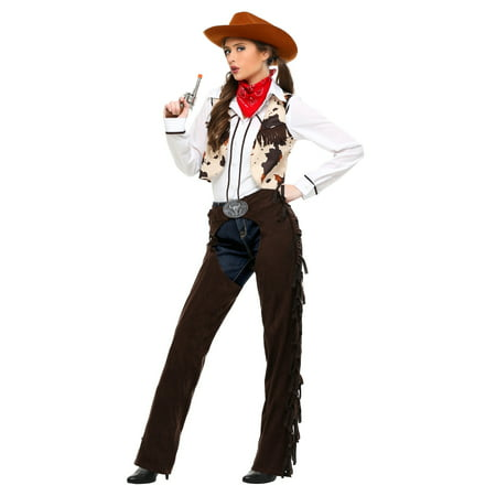 Adult Cowgirl Chaps Plus Size Costume - Adult Cow Girl Costume
