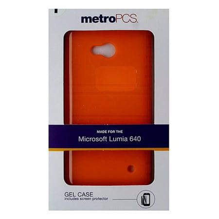 Metropcs Gel Case For Microsoft Lumia 640   Orange