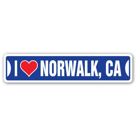 I LOVE NORWALK, CALIFORNIA Street Sign ca city state us wall road décor gift ()