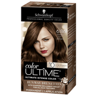 Schwarzkopf Color Ultime Metallic Permanent Hair Color Cream, 6.86 Sparkly Light Brown