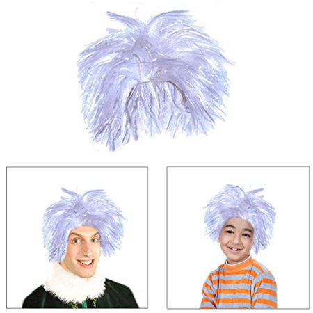 Dressing For Halloween (Dazzling Toys Soft High Quality Cotume Mad Scientist White Wig, Great for Dressing, Adjusts to Fit Adults and)