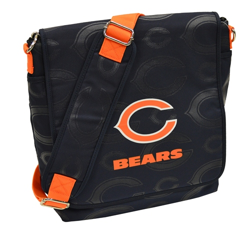 NFL Diaper Bag by Lil Fan, Messenger Style - Chicago Bears