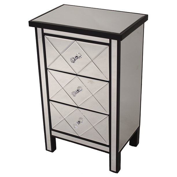 31 Black Wood Accent Cabinet With 3, Accent Cabinet With Drawers
