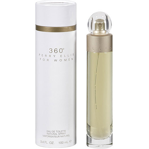 Perry Ellis 360 Eau de Toilette Spray for Women, 3.4 oz