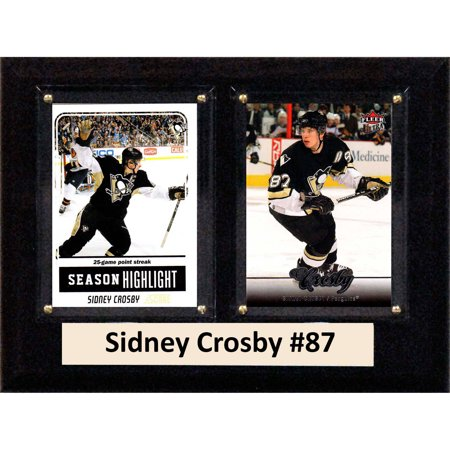 C&I Collectables NHL 6x8 Sidney Crosby Pittsburgh Penguins 2-Card Plaque