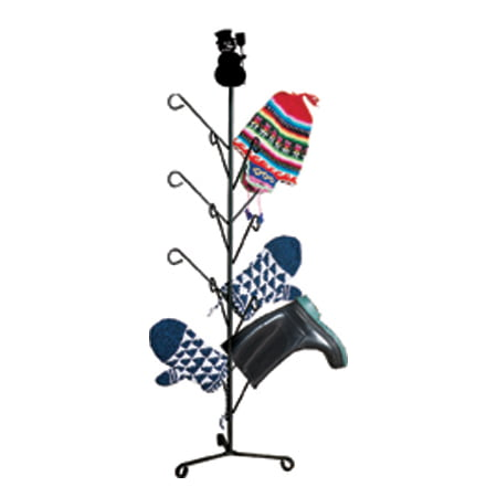 Village Wrought Iron MD-S-8-175 Snowman - Mitten or Boot Dryer Holds 8 Pair ()