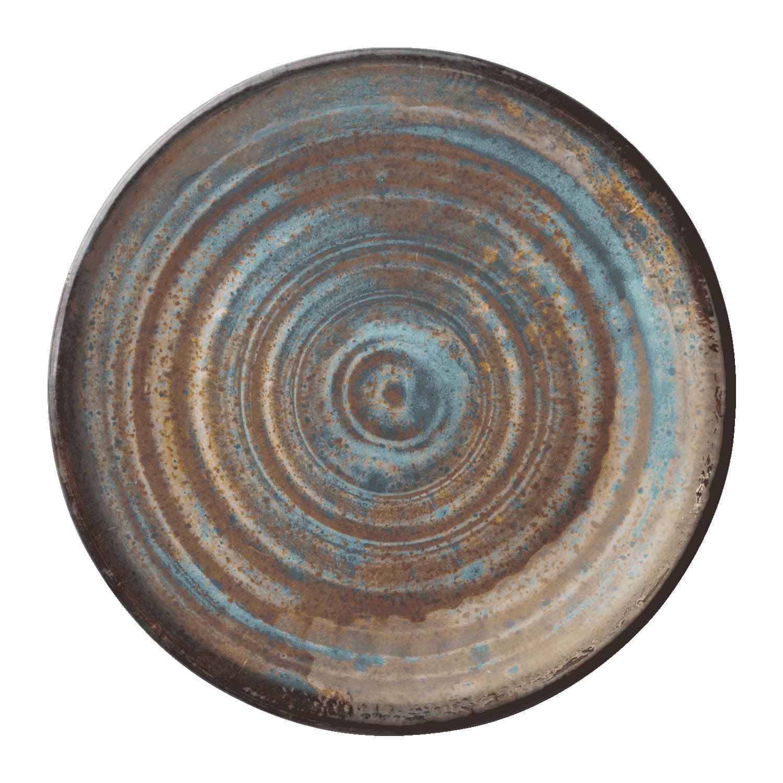 """Merritt International Melamine Glazed Brown Swirl 11"""" Round Dinner Plate - image 1 of 1"""
