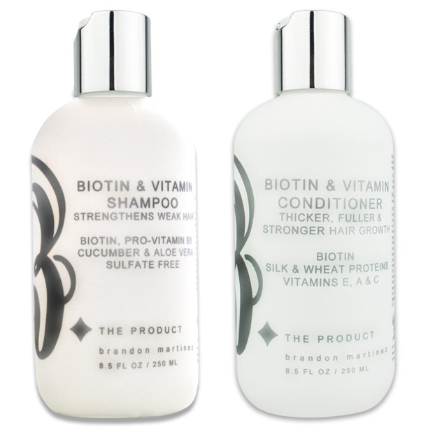 B The Product Biotin Vitamin Shampoo And Conditioner Set For Hair Loss Sulfate Free With Aloe Vera Cucumber Walmart Com Walmart Com