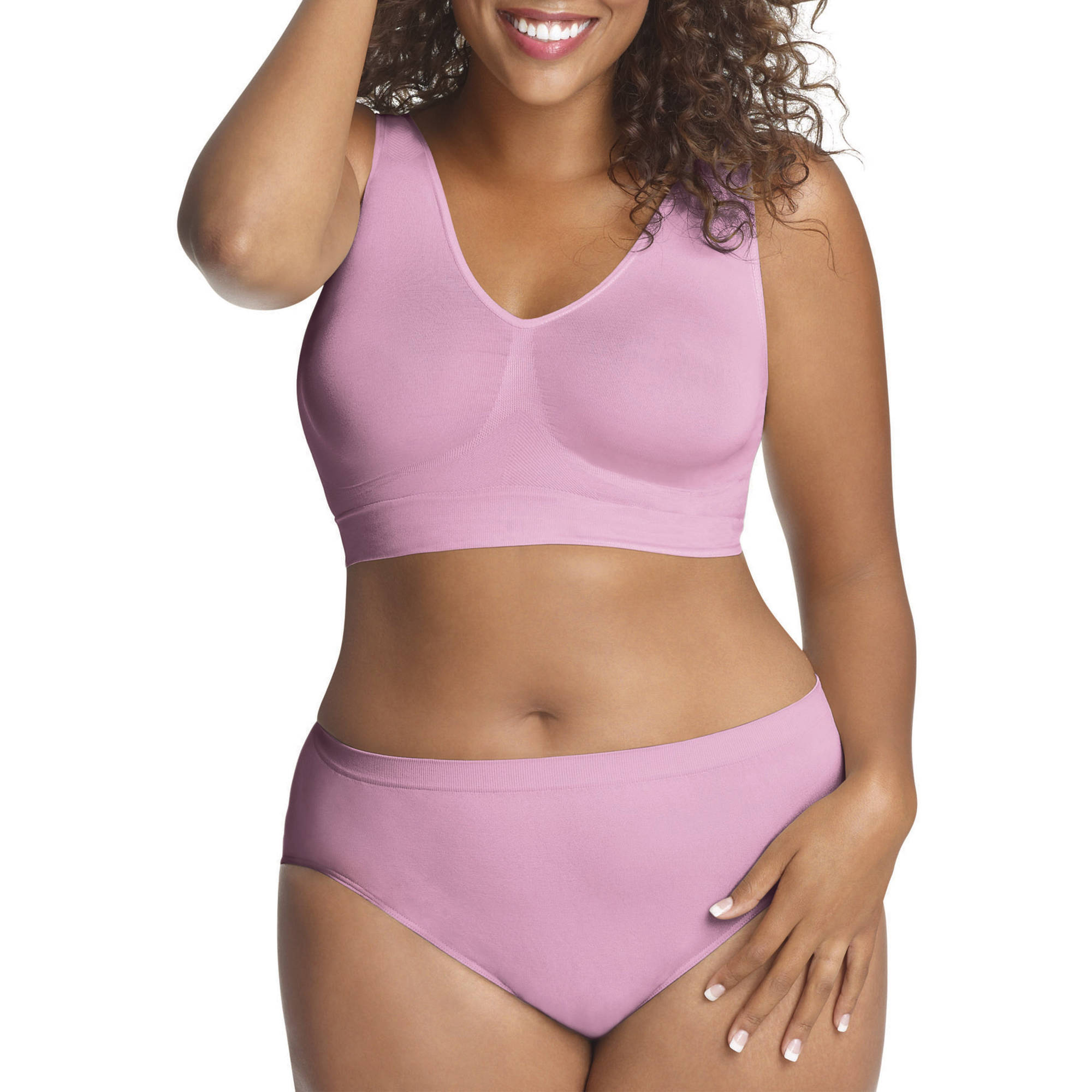Just My Size Pure Comfort Seamless Wirefree Bra Style