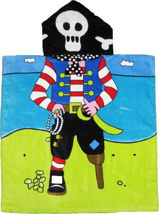 Beach Pirate Hooded Kids Bath Towel by Kreative