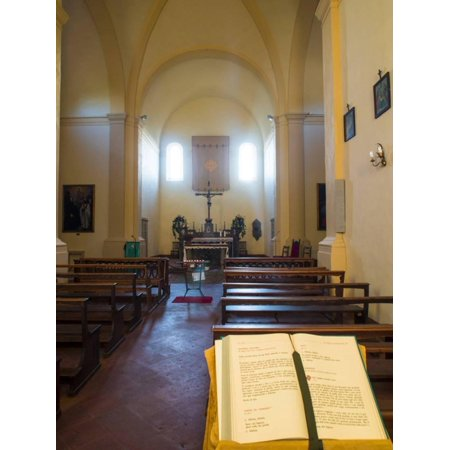 Inside Very Small Chapel in the Town of Volpaia Chianti Tuscany Print Wall Art By Terry