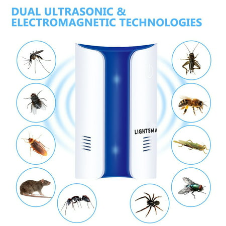 [2018 UPGRADED] MOST POWERFUL Ultrasonic Pest Control Repeller - Eletronic Pest Repellent Plug In - Insect Repellent - Repels Mouse, Bedbug, Roaches, Ants - Non-toxic Eco-friendly, Humans / Pets