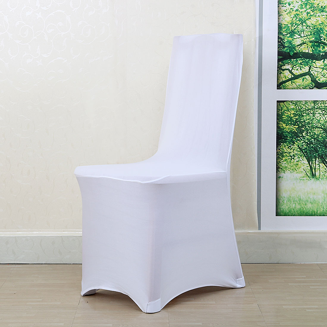 Stretch Dining Chair Covers Universal Slipcover for Hotel Wedding Party Decor White