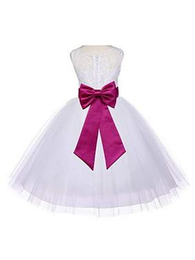 83bfe499c0c Free shipping. Product Image Ekidsbridal Ivory Floral Lace Bodice Tulle Flower  Girl Dress Girl Lace Dresses Tulle Dresses Special Occasion