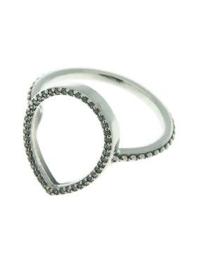 26904d000 Product Image Authentic Teardrop Silhouette Ring, Clear CZ 196253CZ-52 EU 6  US