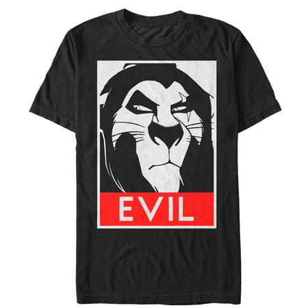 049b60c1 Lion King - Lion King Men's Evil Scar Poster T-Shirt - Walmart.com
