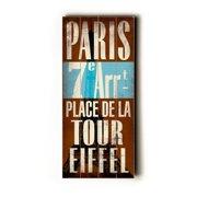 Artehouse LLC Paris Transit by Cory Steffen Textual Art Plaque