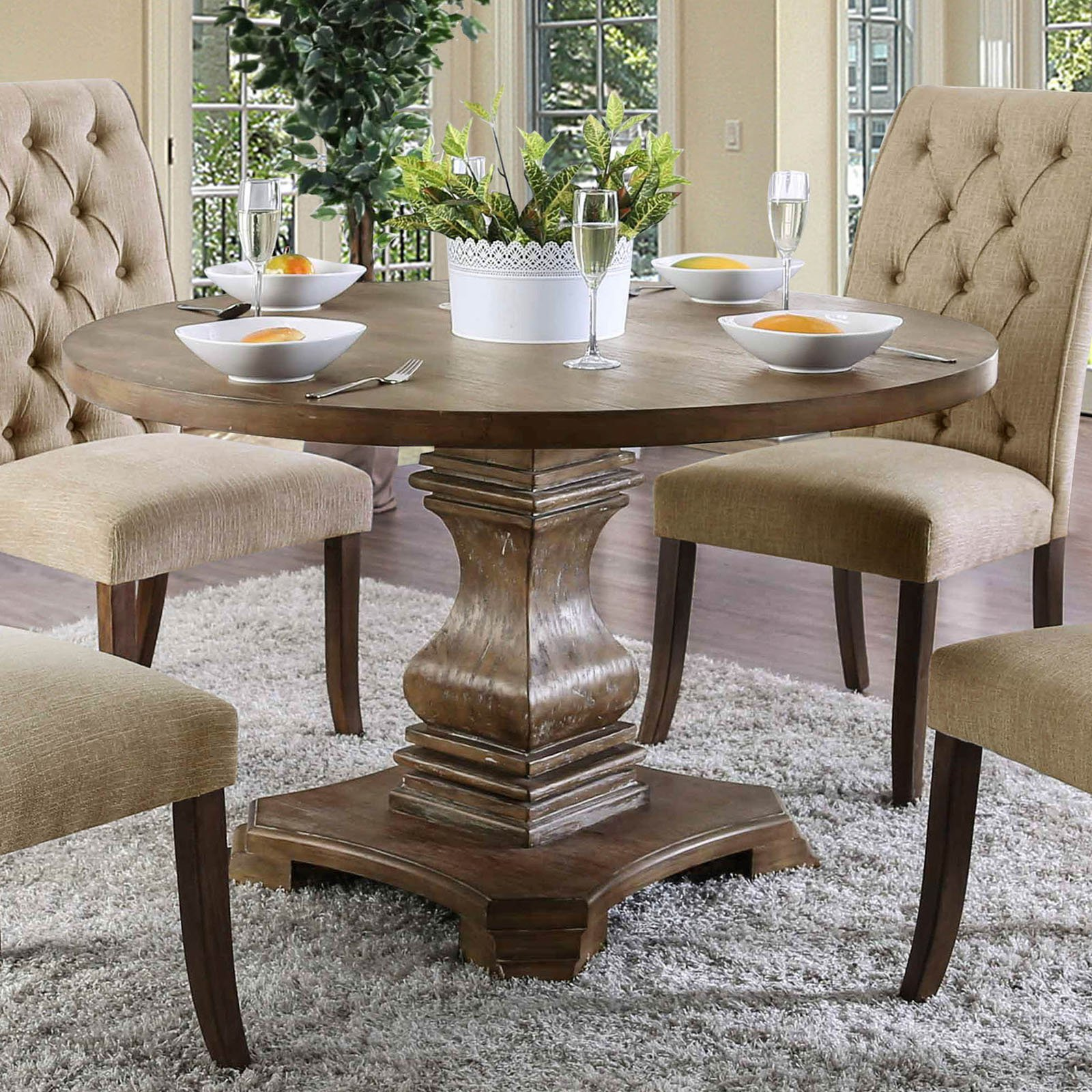 Furniture of America Anton Round Dining Table