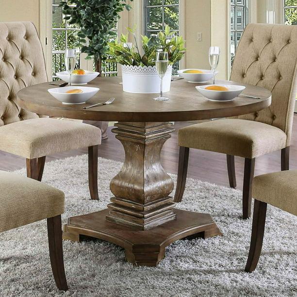 Furniture Of America Anton Round Dining Table Walmart Com Walmart Com
