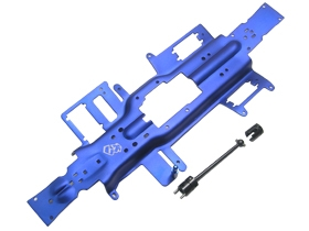 Integy RC Toy Model Hop-ups RE-060 BU 3Racing 330 Long Wheel Base Convention Chassis Blue... by 3racing