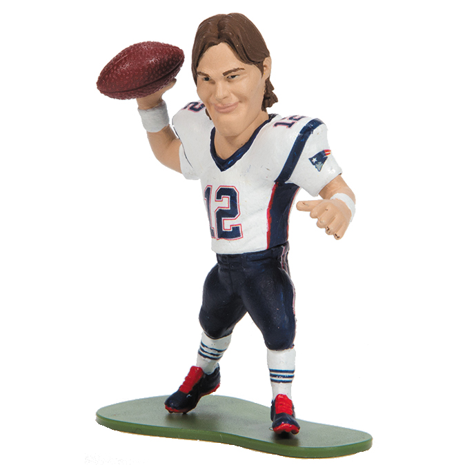 McFarlane Toys Action Figure - NFL smALL PROS Series 3 - TOM BRADY (Long Hair - White Jersey)