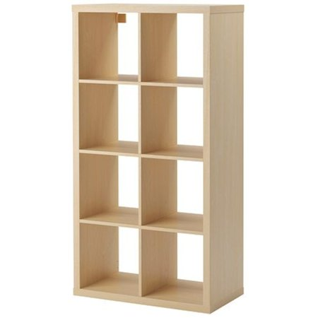 Ikea Kallax Bookcase Shelving Unit Display Birch Effect Brown Modern Shelf 22210 232614 186