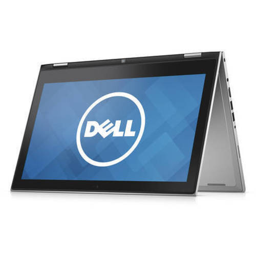 """Dell Silver 13.3"""" Inspiron 13 7348 touch screen 2-in-1 Convertible Laptop PC with Intel Core i3-5010U Processor, 4GB Memory, 500GB Hard Drive and Windows 10 Home"""