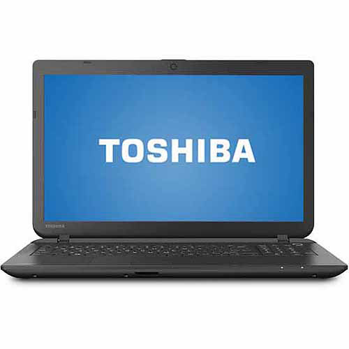 "Refurbished Toshiba Jet Black 15.6"" Satellite C55D-B5206 Laptop PC with AMD A8-6410 Quad-Core Processor, 4GB... by Toshiba"