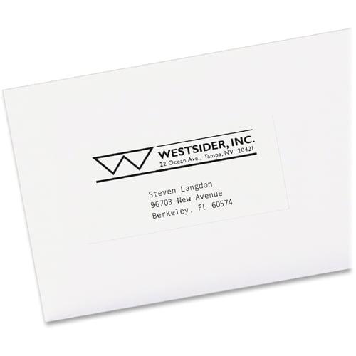 Avery Copier Address Labels 1 X 2 1316 White 3300box Walmart