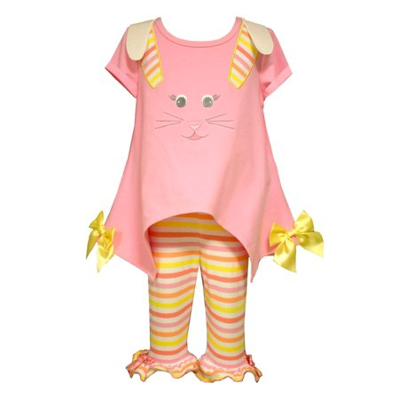 Bonnie Jean Baby Girls Easter Bunny Face Legging Set 12