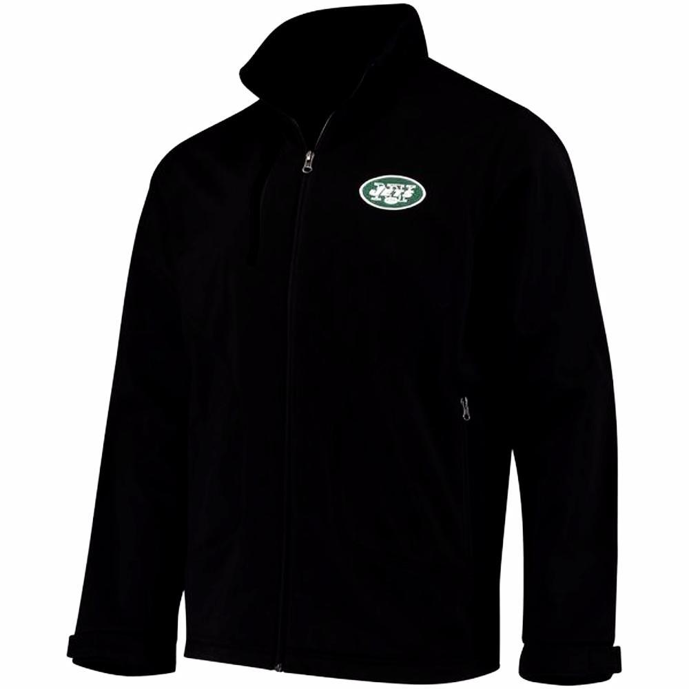 New York Jets Full-Zip Black Soft Shell Track Jacket by G-III Sports