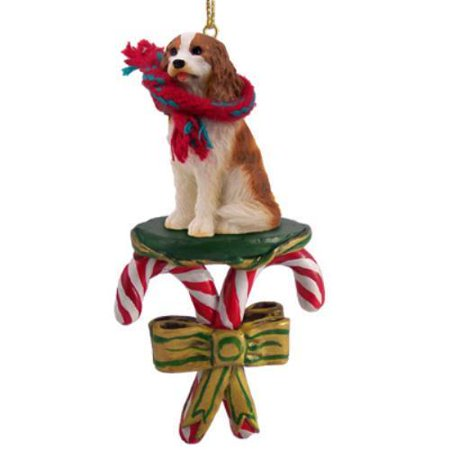 - Cavalier King Charles Spaniel Brown & White Candy Cane Ornament