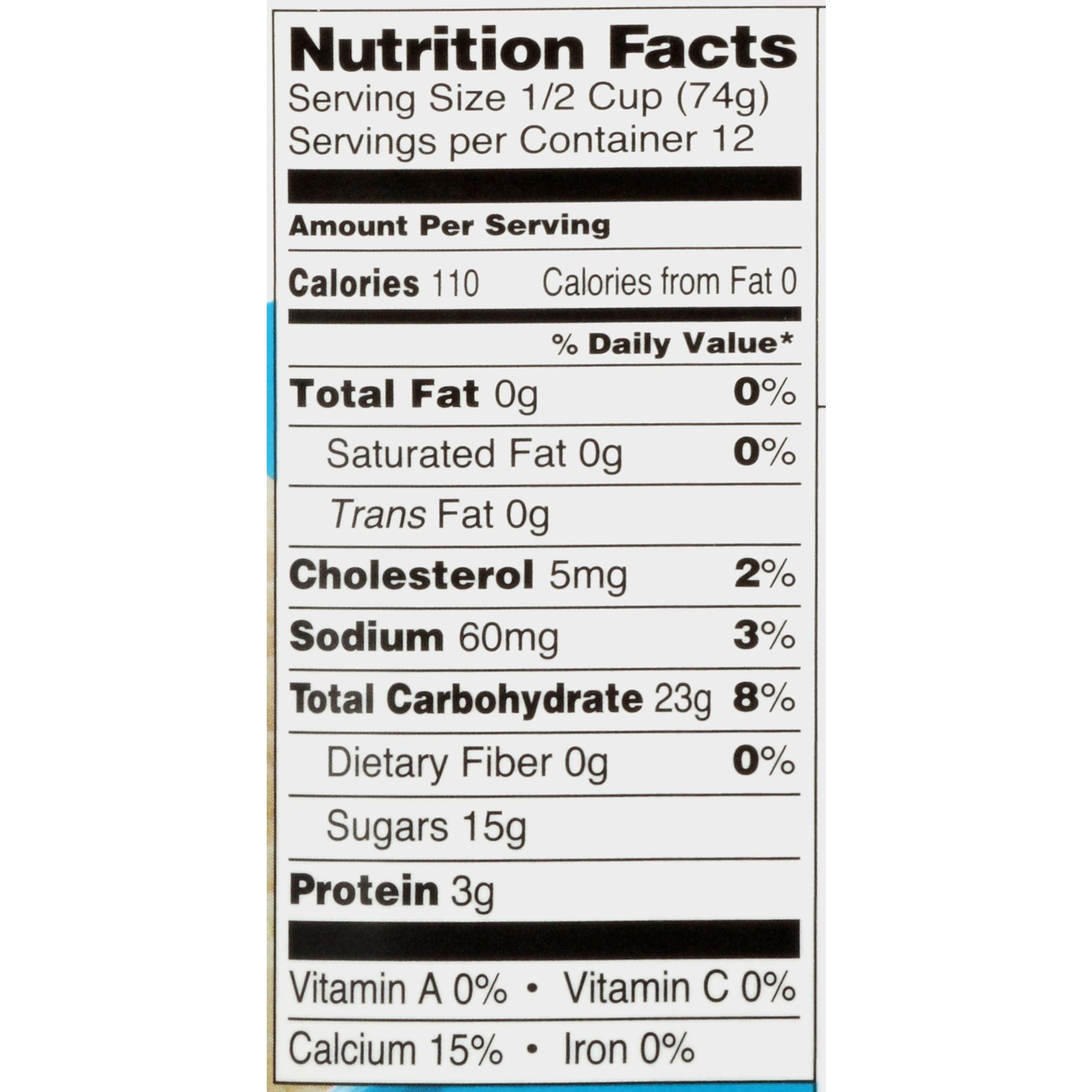 Friendly S Fat Free Frozen Yogurt Nutrition Facts