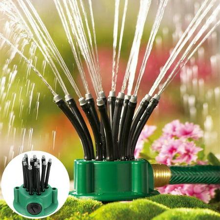 360 Degrees Flexible Garden Yard Sprinkler Adjustable Pulsating Sprinkler Lawn Irrigation System Water Watering Sprinkler Sprayer