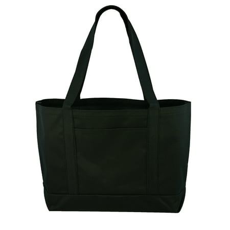 Daily Tote with Shoulder Length Handle and Outside Pocket