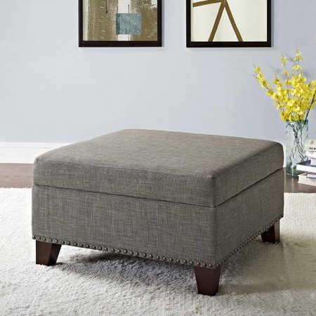Enjoyable Better Homes And Gardens Grayson Linen Square Ottoman With Nailheads Multiple Colors Gmtry Best Dining Table And Chair Ideas Images Gmtryco