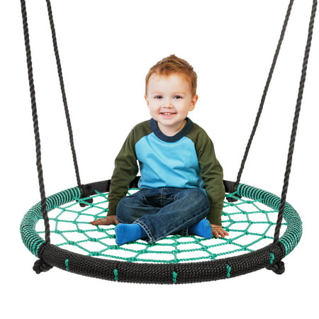 Modular Playground Equipment (Spider Web Tree Swing-Large 40-inch Diameter Hanging Tree Rope Saucer Seat-Great Backyard Playground Equipment for Boys and Girls by Hey!)