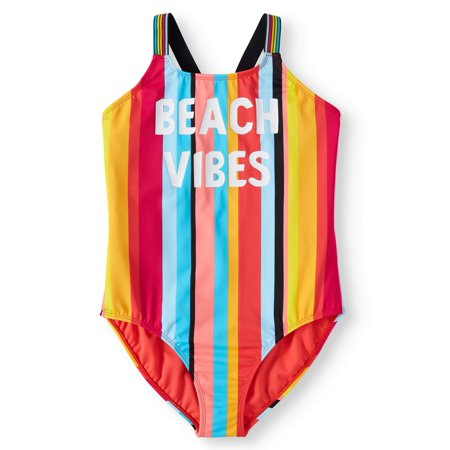 Beach Vibes One-Piece Swimsuit (Little Girls, Big Girls & Big Girls Plus)