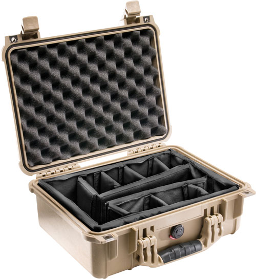 Pelican 1450 Case with Dividers (Desert Tan)