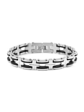 94c82e893ebf Product Image Bracelet Stainless Steel Dual Tone Plated Gift Jewelry for  Mens Size 8.75
