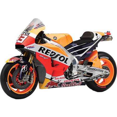NEW 1:12 MOTORCYCLES COLLECTION - ORANGE HONDA REPSOL TEAM - HONDA RC213V MARC MARQUEZ #93 Model Car By TOYS, 1:12 NEW RAY MOTORCYCLES COLLECTION By New Ray (Motorcycle Collector)